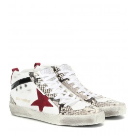 Golden Goose Exclusive to Mytheresa – Mid Star leather sneakers P00403891 0AMBk2BU