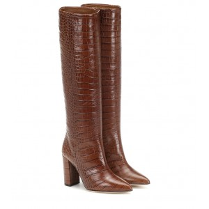 Paris Texas Croc-effect leather knee-high boots P00415499 ORodcaSl
