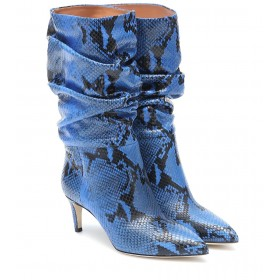 Paris Texas Exclusive to Mytheresa – Snake-effect leather ankle boots P00475147 WgTBIj8N