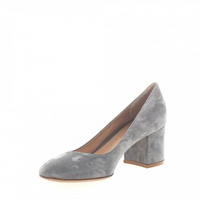 Gianvito Rossi Pumps calfskin suede grey online shopping HJISMPO