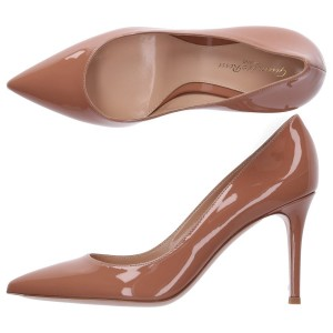 Gianvito Rossi Pumps GIANVITO 85 patent leather beige online shopping YWPLOKG