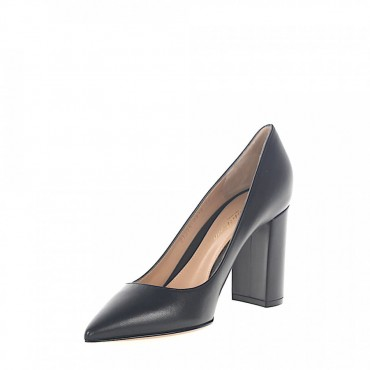 Gianvito Rossi Pumps PIPER PUMP 85 leather black online shopping AEQPAHC