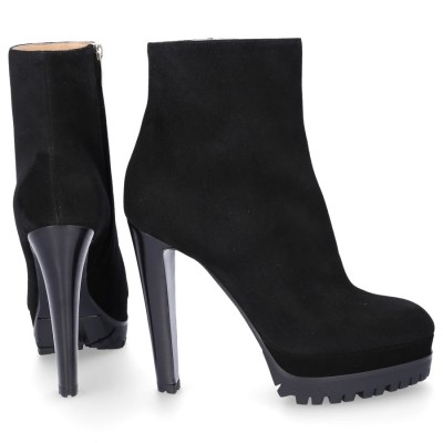 Sergio Rossi Ankle Boots A72430 suede black online shopping KSOOGJY