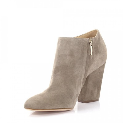 Sergio Rossi Ankle Boots Grey goatskin suede grey online shopping VKEYPDY
