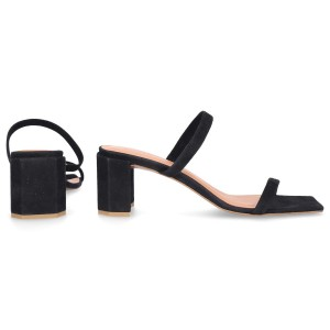 By FAR Sandals TANYA suede black online shopping YAHVXOK