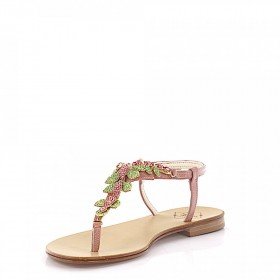 Emanuela Caruso Sandals Strass pale pink online shopping OVENOWC