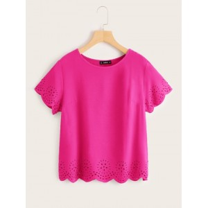 Solid Laser Cut Scalloped Top  IAGVQEO