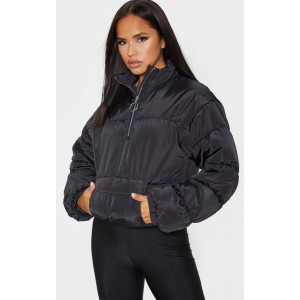 Black Pull Over Puffer | Coats & Jackets | CMC7919