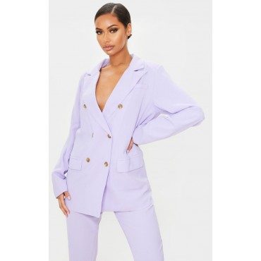 Lilac Tailored Woven Blazer   Co-Ords   CMH1074