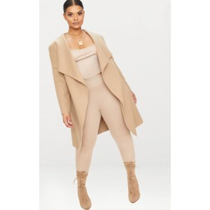 Plus Camel Waterfall Coat | Plus_Size | CLW3629
