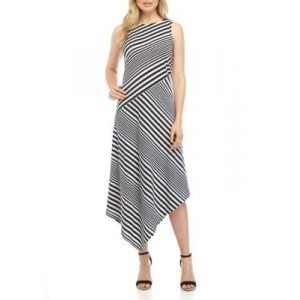 New Directions® Womens Knit Stripe Dress Blk/wht Barcode ggcOvW5h