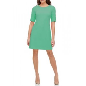 Tommy Hilfiger Womens Scuba Crepe Shift Dress with Button Sleeves Peapod m5JMjujA