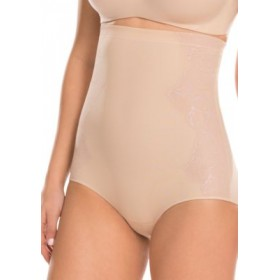 ASSETS® by Sara Blakely Luxe and Lean Lace High-Waist Briefs- 10115R Soft Nude/Imperial L CwUh7FHM
