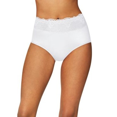Bali® Passion for Comfort Lace Briefs White sAOgTWlt