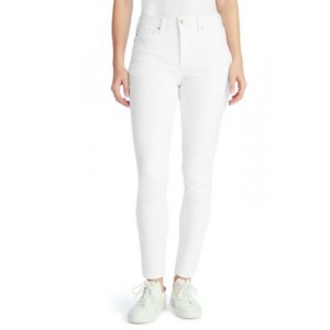 Chaps High Rise Skinny Jeans in Short Length White jwISzA5W