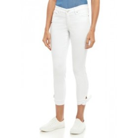Crown & Ivy™ Skinny Jeans with Knotted Hems Arctic Wash wOLianfV