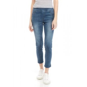 Democracy Womens High Rise Pull On Ankle Slit Jeans Blue Q1AuHjCc