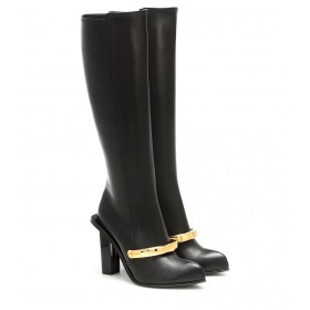 Alexander McQueen Peak leather knee-high boots P00488951 oUUcBby6