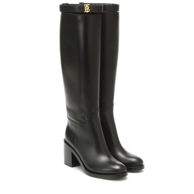 Burberry Monogram leather knee-high boots P00431542 exwT0TCP