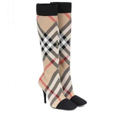 Burberry Vintage Check knee-high sock boots P00431555 YpInpULe