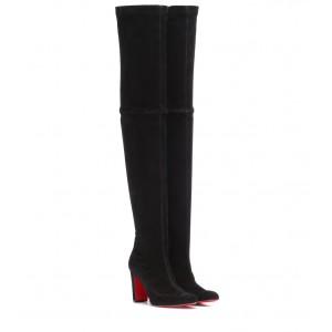 Christian Louboutin Kiss Me Gena 85 suede over-the-knee boots P00340887 qUxoSe6b
