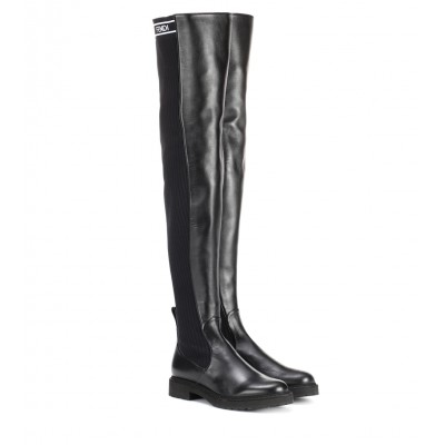 Fendi Leather over-the-knee boots P00279219 M9pzim0k