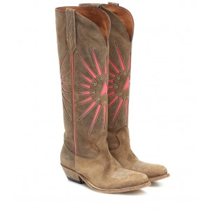 Golden Goose Wish Star suede cowboy boots P00434052 nvhJGxNE