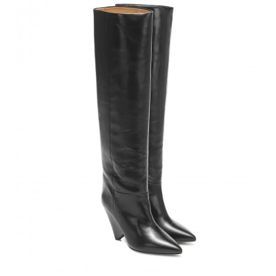 Isabel Marant Lokyo leather knee-high boots P00432615 iJE3QkCe
