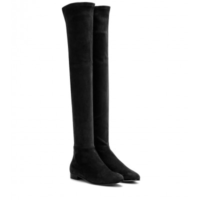 Jimmy Choo Myren Flat suede over-the-knee boots P00261494 HxH32OWl