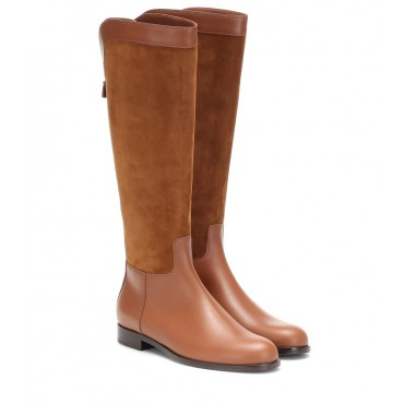 Loro Piana Welly suede and leather boots P00403583 RG3fLuwF
