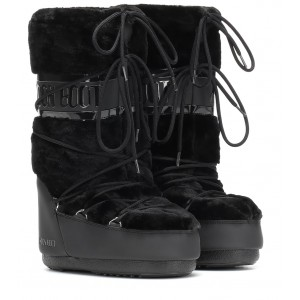 Moon Boot Classic faux fur-trimmed ankle boots P00350594 dCZHgpaX