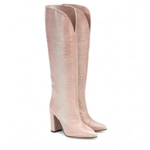 Paris Texas Croc-effect leather knee-high boots P00433617 mgXcr7lD