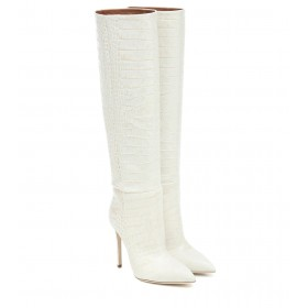 Paris Texas Croc-effect leather knee-high boots P00461366 yqMPOTYP