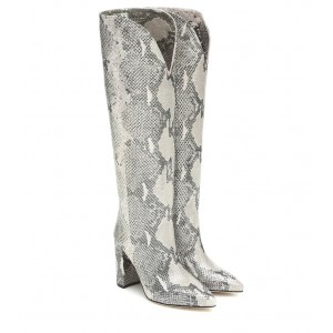 Paris Texas Snake-effect leather knee-high boots P00433620 iEDQQmXS