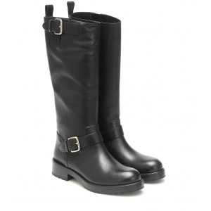 REDValentino RED (V) leather knee-high boots P00483834 K020RKA5