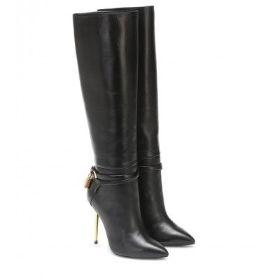 Tom Ford Embellished leather knee-high boots P00488567 0orMy4GE